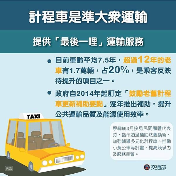 taxi 計程車補助